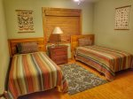 Ocoee River Area cabin rentals- Twin Bedrooom